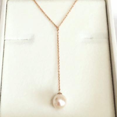 真珠のYチェーンネックレス